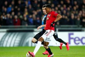 Europa League:Anthony Martial grabs key goal for Manchester United in Bruges