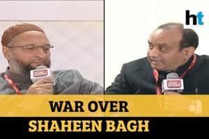 Watch : Asaduddin Owaisi Vs BJP'S Sudhanshu Trivedi over Shaheen Bagh p...