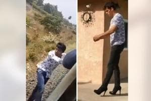 Unexpected end of 'Muqabla' dance to man's scary fall off moving train, viral videos that left people with questions