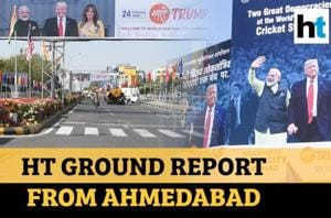 From hoardings to Motera stadium, how Ahmedabad will host US President Trump