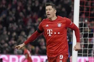 Robert Lewandowski double edges Bayern past bottom side Paderborn