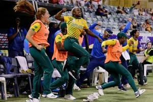 Women's T20 World Cup:South Africa hold nerve for win over England