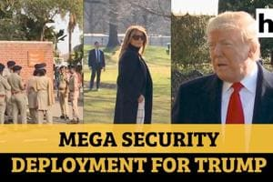 Security cover for Trump: 108 senior officers, over 10,000 cops in Ahmedabad