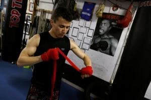 Afghan refugee pursues his dream of boxing in Tokyo
