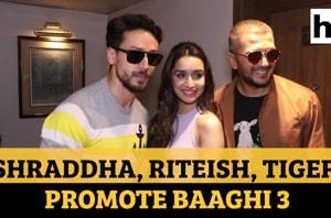 Watch: Shraddha Kapoor, Riteish Deshmukh, Tiger Shroff promote Baaghi 3
