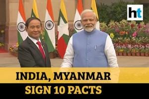 PM Modi holds talks with Myanmar President; India, Myanmar sign 10 pacts