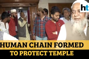Chand Bagh locals form human chain to protect temple amid Delhi violence