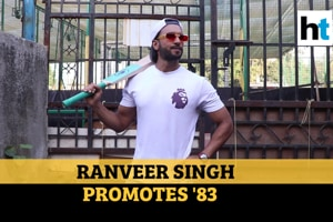 Watch: Ranveer Singh poses with bat, promotes upcoming movie '83