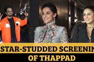 Ayushmann Khurrana, Huma Qureshi at star-studded screening of Thappad