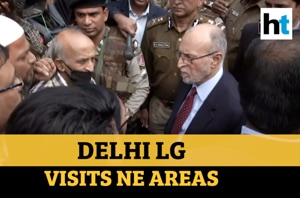 Delhi violence| LG Anil Baijal interacts with locals in north east areas