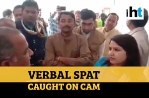 Watch: Verbal spat between Congress leaders, mining officer in MP's Sha...