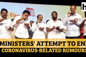 Watch: Telangana ministers eat chicken to end coronavirus-related rumou...