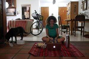 Photos: From Shanghai to Caracas, COVID-19 is moving life online