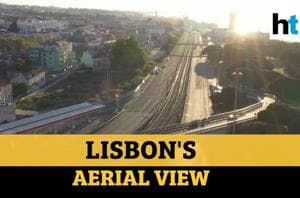 Watch: Aerial view of Lisbon's popular tourist spots, roads amid lockdo...