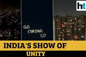 Watch: India switches off lights, burns diyas to show unity against Covid-19