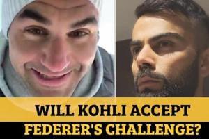 Roger Federer challenges Virat Kohli: Watch tennis ace's home training ...