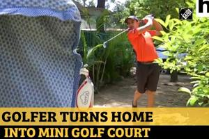 Watch: Chandigarh golfer turns home into mini-golf course amid lockdown