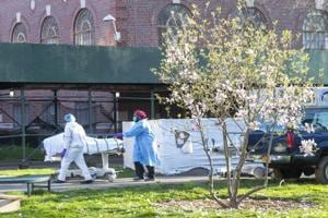 'This is very real': From their window, New York couple sees trucks remove Covid-19 victims' bodies
