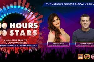 100 Hours 100 Stars: Zareen Khan and Chetan Bhagat