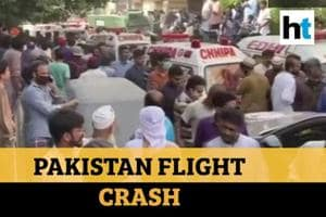 Watch: Pakistan Airlines plane with 98 on board crashes, rescue ops und...