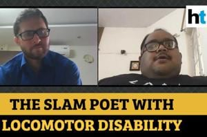 The sarcastic slam poet with locomotor disability