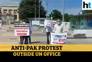 Watch: Protest outside UN office against persecution of Christians in P...