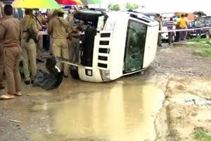 Vehicle carrying Vikas Dubey overturned while saving cattle: UPPolice