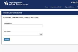 NID DAT mains 2020 result for BDes-GPDP admission declared at admission-nid-edu