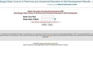 West Bengal HS Vocational Results 2020 declared at wbresults.nic.in, check direct link here