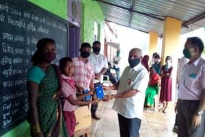 Adivasi students get their hands on a mobile for the first time