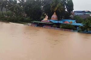 Swollen rivers, flood-like situation in several parts of Karnataka due to heavy rainfall