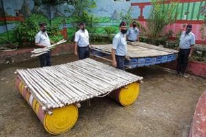 Floating devices for flood rescue missions---Pune fire brigade puts plastic waste to good use