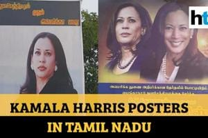 Watch why this Tamil Nadu village is adorned with posters of Kamala Har...