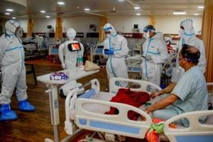 At this Noida hospital, Covid-19 patients have a humanoid friend for company