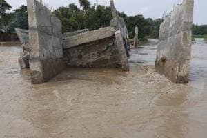 Bridge in poll bound Bihar washed away before inauguration
