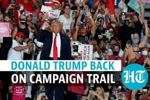 'Feel powerful; will kiss everyone': Trump in first rally after Covid r...