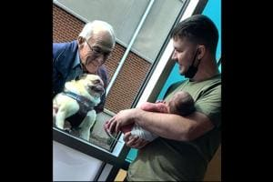 Pug's priceless expression after meeting human baby brother may melt your heart