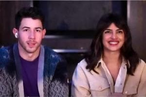 HTLS 2020: Priyanka Chopra and Nick Jonas during the virtual interaction.