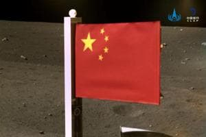 China plants its flag on moon as lunar probe takes off for earth