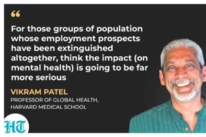 Harvard medical school professor, Vikram Patel.