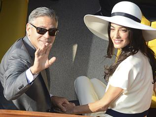 George and Amal spotted in Venice after they get married, again!