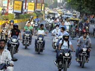 HC snub drives cops in Indore to crack whip on helmet-less riders