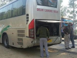 Delhi-Lahore bus meets with accident in Kapurthala