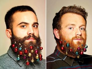 Beard baubles: Try this kitsch but cool festive trend