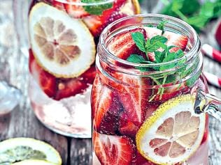 Flavoured water is great for your body and skin