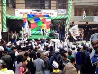 The Aam Aadmi Party (AAP) launched a frontal attack on Prime Minister Narendra Modi at the party's rally here