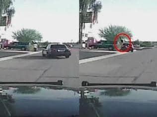 Watch: US cop runs over armed suspect in shocking dashcam footage