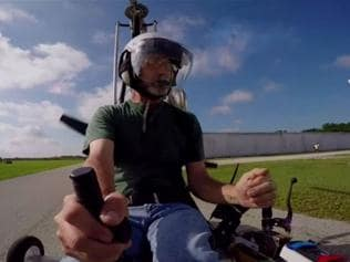 Watch: Man illegaly lands mini helicopter in Washington, DC
