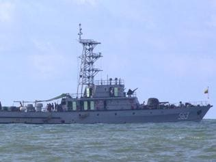 Journalists asked at gunpoint to delete footage of Migrant boat held off Myanmar coast