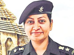India's first female army officer